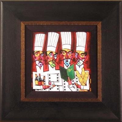 Tim RogersonChef QuartetHand-Embellished Giclee on Canvas