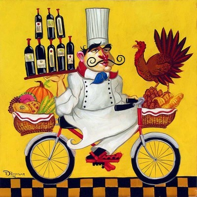 Tim Rogerson Thankful Chef Giclee On Canvas
