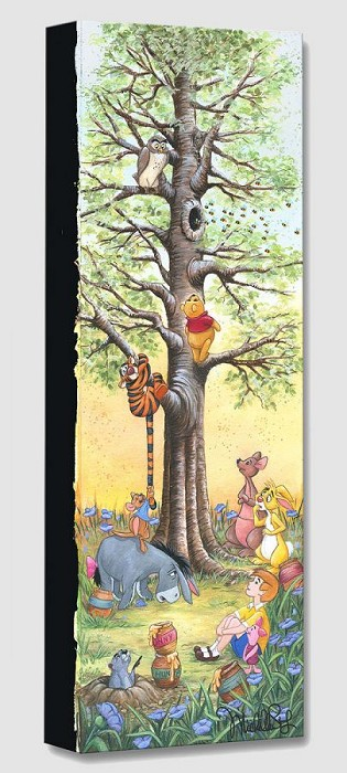 Michelle St Laurent Tree Climbers From Winnie The Pooh Gallery Wrapped Giclee On Canvas
