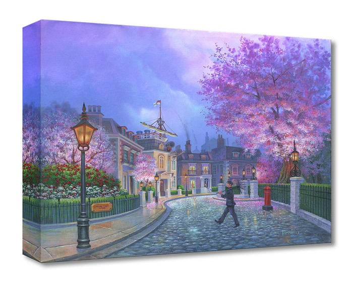 Michael Humphries Cherry Tree Lane Gallery Wrapped Giclee On Canvas
