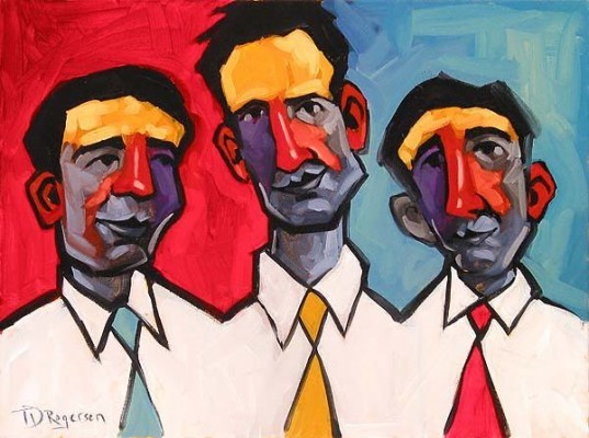 Tim Rogerson Three Guys Named Joe Giclee On Canvas