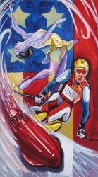 Tim Rogerson US Olympic Winter Team 2006 Giclee On Canvas