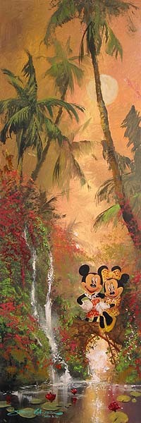 James Coleman Tropical Twosome Giclee On Canvas