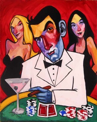 Tim Rogerson High Roller Giclee On Canvas