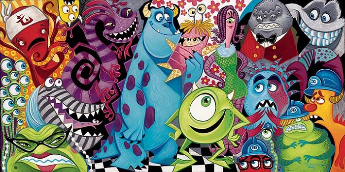 Tim Rogerson The Scariest Little Monster Deluxe Giclee On Canvas
