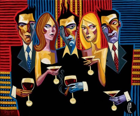 Tim RogersonBright Lights Sin CityHand-Embellished Giclee on Canvas