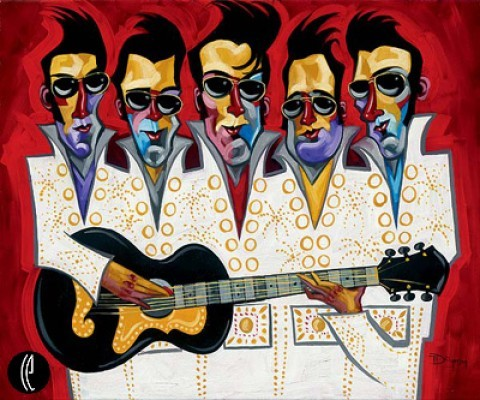 Tim Rogerson Five Faux Strum Giclee On Canvas