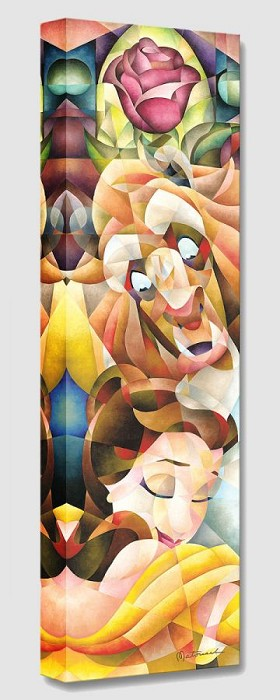 Tom Matousek True Love's Embrace From Beauty And The Beast Gallery Wrapped Giclee On Canvas