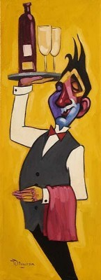 Tim Rogerson Vino for Two Giclee On Canvas