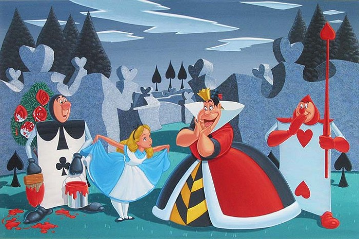 Manuel Hernandez Turn Out Your Toes - From Disney Alice in Wonderland Giclee On Canvas