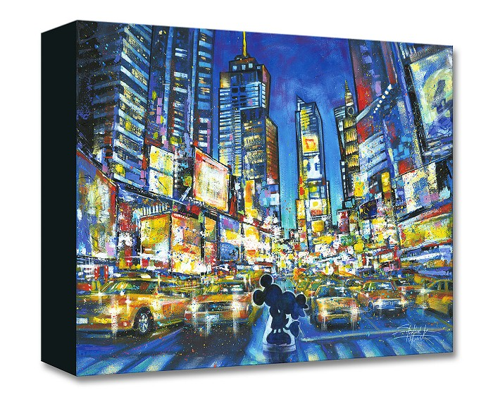 Stephen Fishwick You, Me and the City Gallery Wrapped Giclee On Canvas