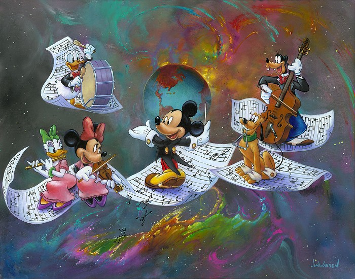 Jim Warren A Universe of Music Hand-Embellished Giclee on Canvas