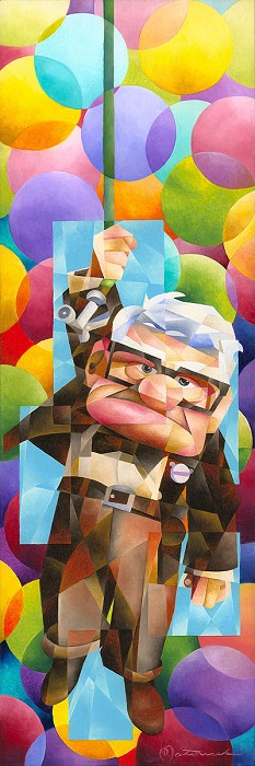 Tom MatousekUp Goes Carl Gallery WrappedHand-Embellished Giclee on Canvas