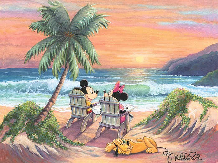 Michelle St LaurentVacation ParadiseHand-Embellished Giclee on Canvas