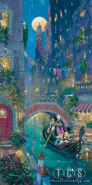 James Coleman Venetian Romance Giclee On Canvas