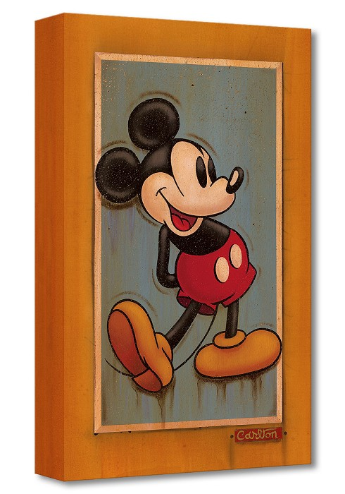 Trevor Carlton Vintage Mickey Gallery Wrapped Giclee On Canvas