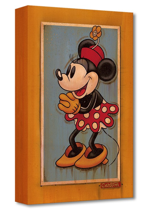 Trevor Carlton Vintage Minnie Gallery Wrapped Giclee On Canvas