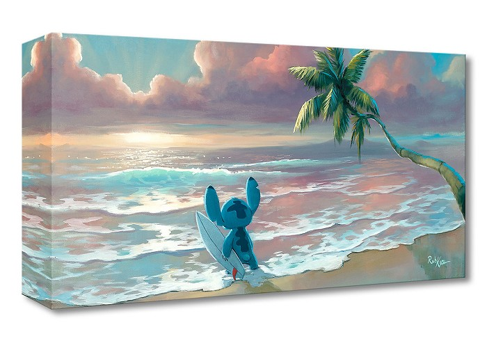 Rob Kaz  Waiting for Waves From Lilo and Stitch Gallery Wrapped Giclee On Canvas