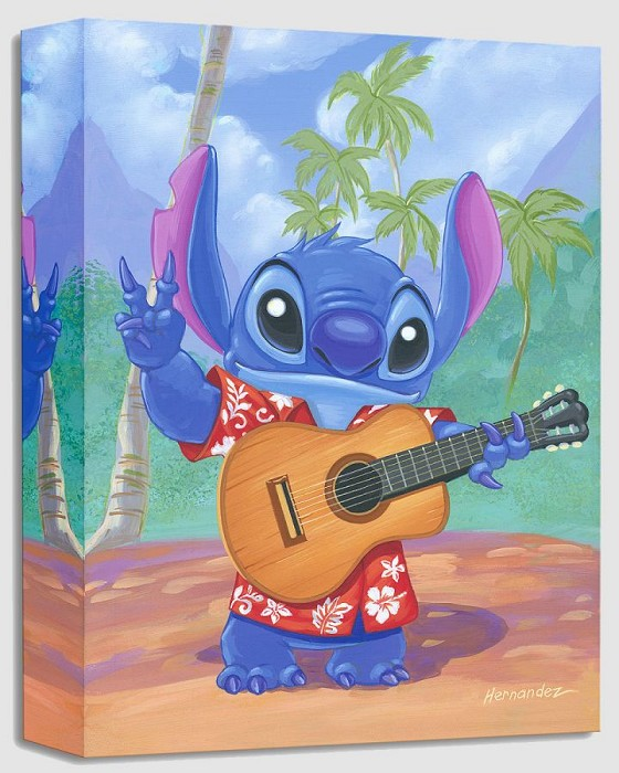 Manuel Hernandez Warm Aloha From Lilo And Stitch Gallery Wrapped Giclee On Canvas