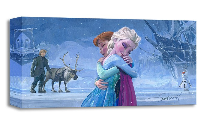 Jim SalvatiThe Warmth of Love From The Movie FrozenGallery Wrapped Giclee On Canvas