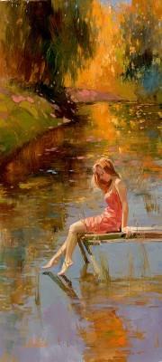 Irene SheriWarm ReflectionsHand-Embellished Giclee on Canvas