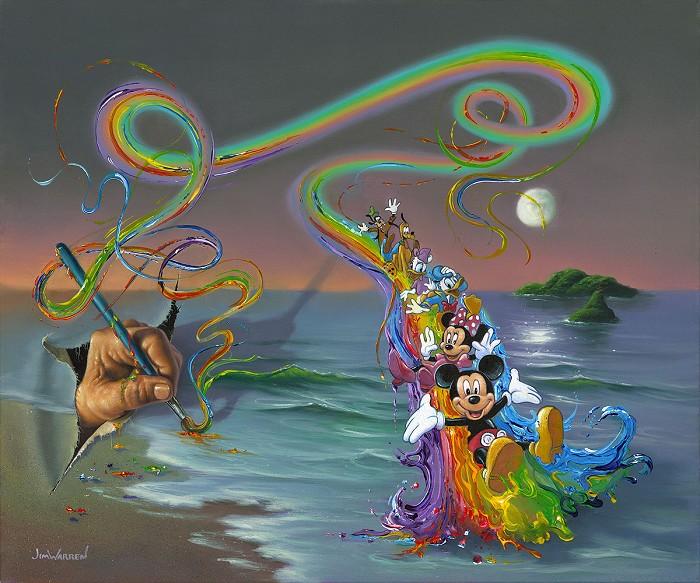 Jim WarrenWalt's Colorful CreationsHand-Embellished Giclee on Canvas