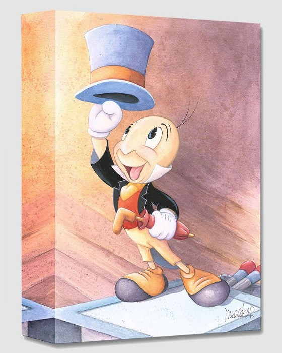Michelle St Laurent A Well Dressed Conscience From Pinocchio Gallery Wrapped Giclee On Canvas