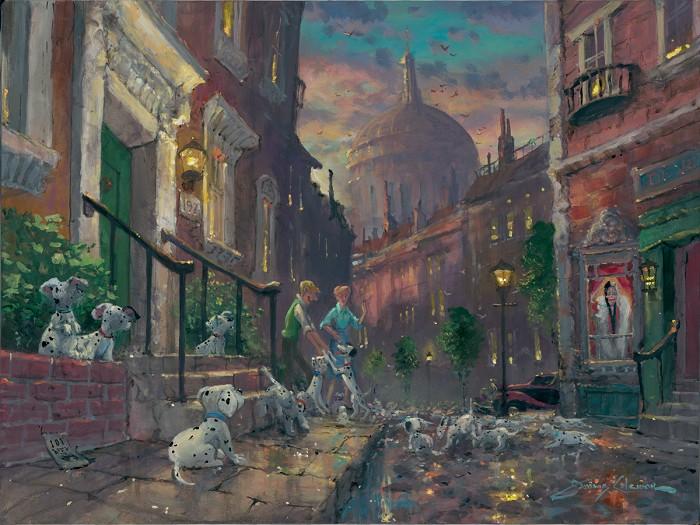 James ColemanWell Keep Em 101 DalmationsHand-Embellished Giclee on Canvas