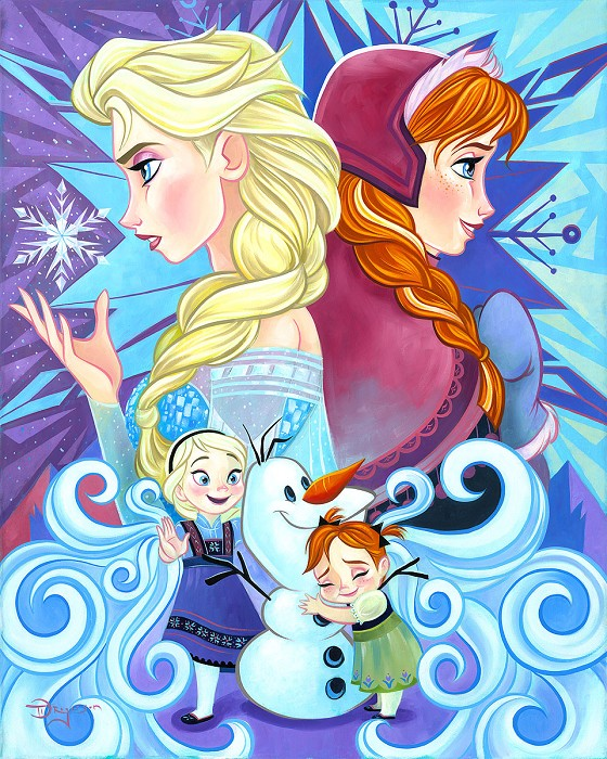 Tim Rogerson We Only Have Each Other From The Movie Frozen Hand-Embellished Giclee on Canvas