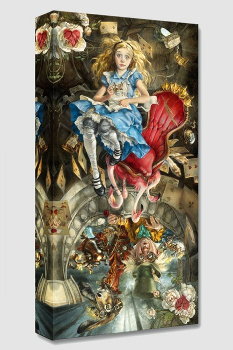 Heather Theurer We're All Mad Here From Alice In Wonderland Gallery Wrapped Giclee On Canvas