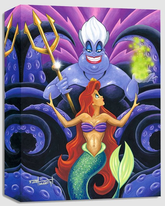 Mike Kungl The Whisper - From Disney The Little Mermaid Gallery Wrapped Giclee On Canvas