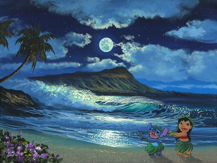 Walfrido Garcia Hula Moon Giclee On Canvas