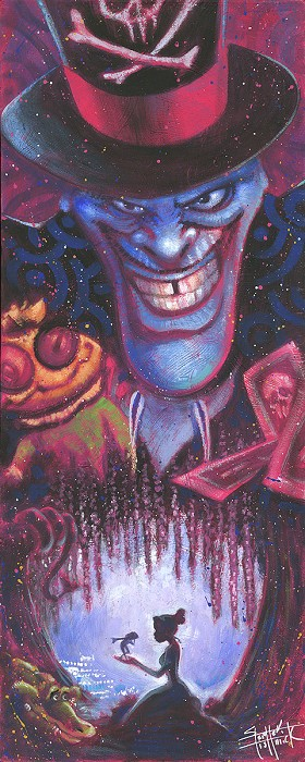 Stephen Fishwick Wicked Doctor From The Princess And The Frog Hand-Embellished Giclee on Canvas