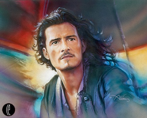 John Alvin Will Turner - From Pirates of the Caribbean Giclee On Canvas