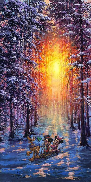 Rodel GonzalezWinter Sleigh RideHand-Embellished Giclee on Canvas