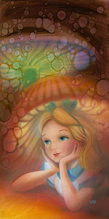 John Rowe Wondering - From Disney Alice in Wonderland Giclee On Canvas