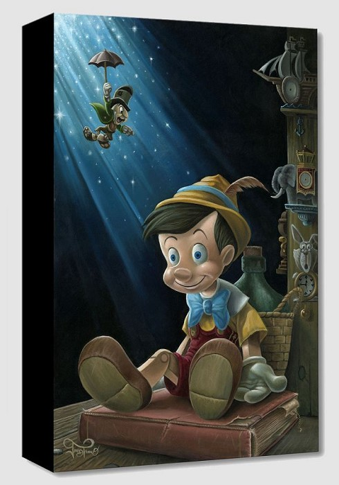 Jared Franco The Little Wooden Boy Giclee On Canvas