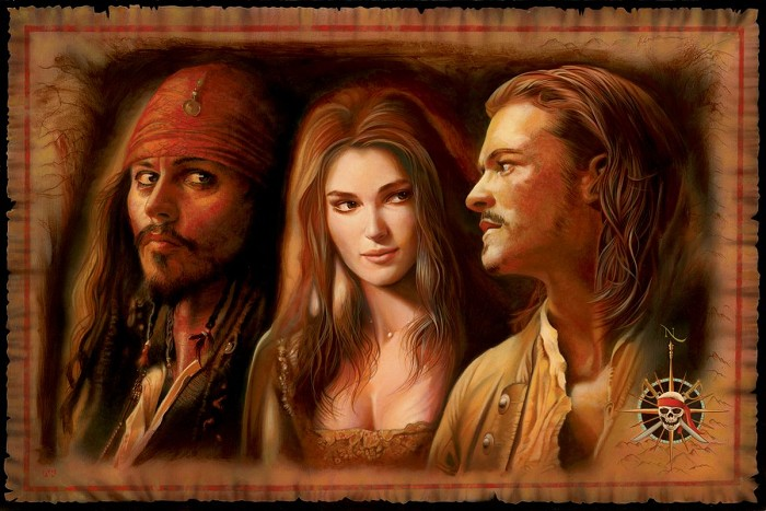 John Rowe What Is A Pirate - From Pirates of the Caribbean Giclee On Canvas
