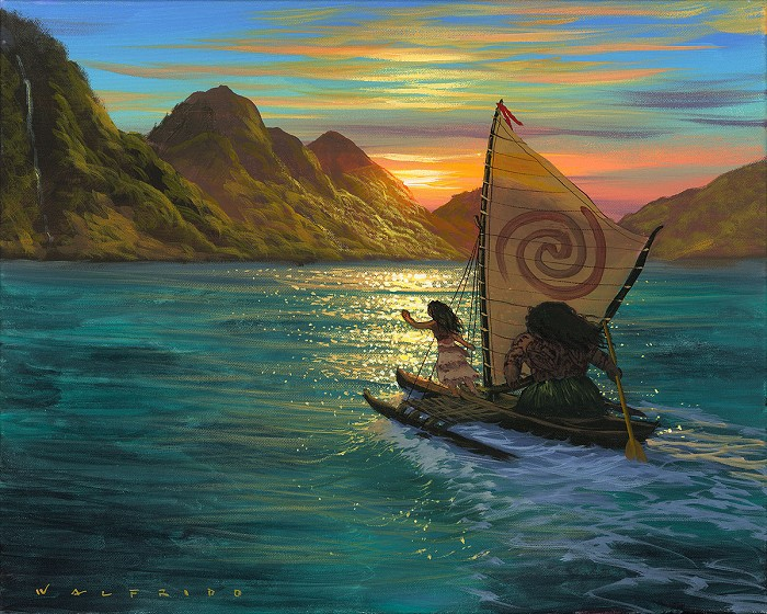 Walfrido Garcia Sailing Into the Sun Gallery Wrapped Giclee On Canvas