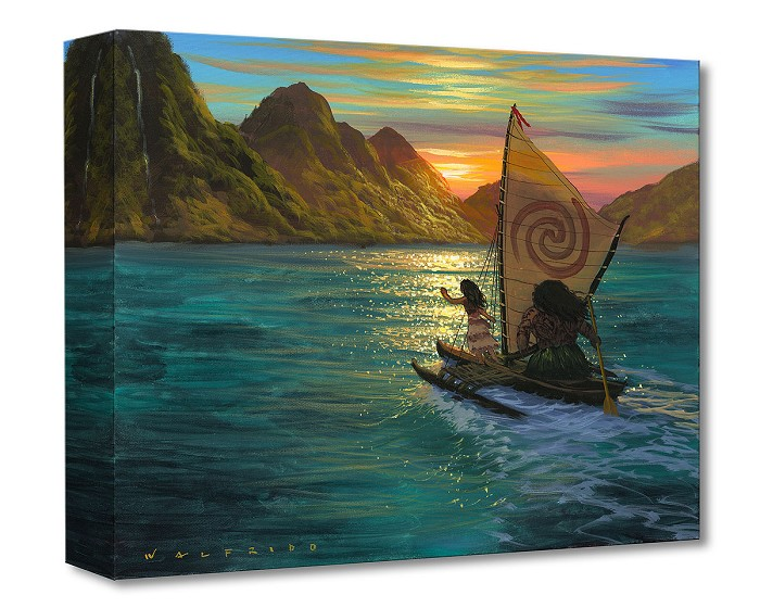 Walfrido GarciaSailing Into the SunGallery Wrapped Giclee On Canvas