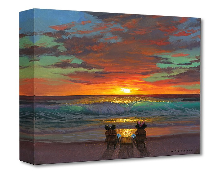 Walfrido Garcia Sharing a Sunset Gallery Wrapped Giclee On Canvas
