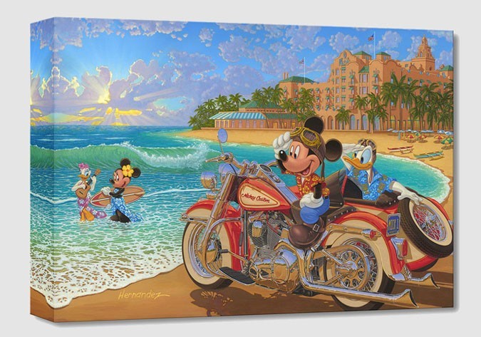 Manuel Hernandez Where the Road Meets the Sea From Mickey And Minnie Gallery Wrapped Giclee On Canvas