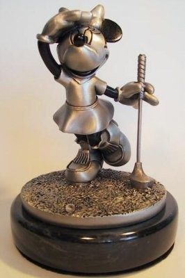 Disney Chilmark What birdie Minnie golfing pewter figure