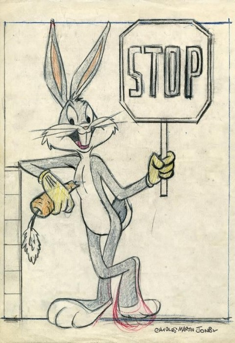 Chuck Jones Bugs Bunny: Stop On The Lot Giclee On Paper