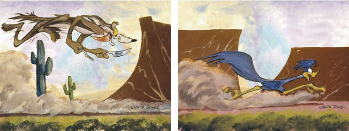 Chuck Jones Desert Duo (Set of 2) Giclee On Canvas