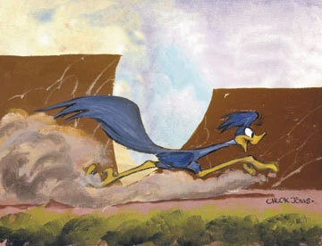 Chuck Jones Desert Duo Road Runner Giclee On Canvas