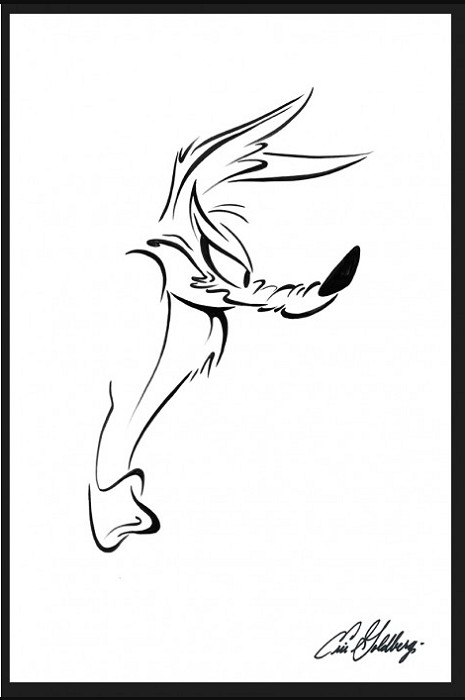 Eric GoldbergHe Leaps - Wile E. CoyoteGiclee On Paper