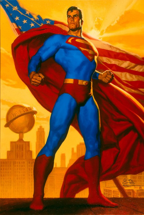 Glen OrbikTruth, Justice And The American WayGiclee On Paper
