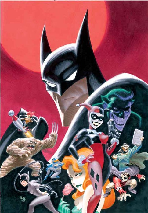 Bruce Timm Gotham Dangerous Dames and Demons Giclee On Paper