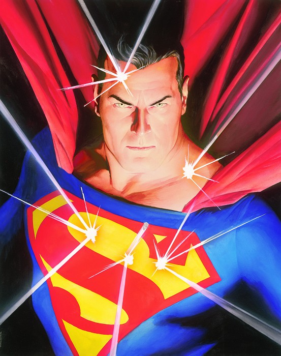 Alex Ross Superman Mythology Giclee On Paper
